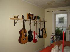 Guitar holding shelf!