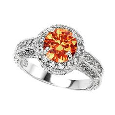 I LOVE THIS RING! Mexican Fire Opal Engagement Ring Size 5