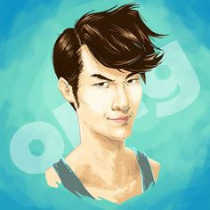 """Wow! These portraits of Eugene Lee Yang, Quinta B., Ashly Perez, and Andrew Ilnyckyj are amazing.  """"#buzzfeed portrait number two! @eugeneleeyang . His fellow #tryguys Keith, Ned, and Zach are coming up on my list! Hair remains my absolute favorite thing…"""""""