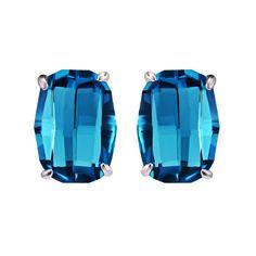 Blue Scarab Stud Earrings