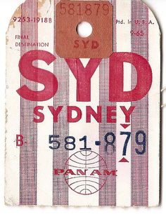 Pan Am - SYD Sydney - 1965