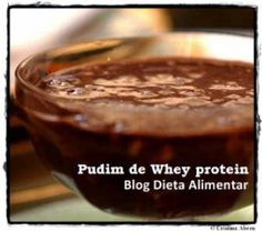 Pudim de Whey Protein sabor chocolate
