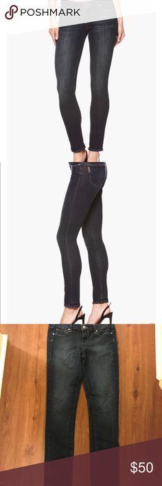 Paige peg skinny jeans Women's dark blue jean skinny leg. Size 29. Great condition!! Paige Jeans Jeans Skinny