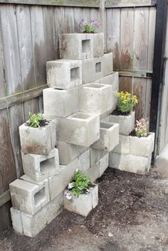 cinder-block-garden3 (this could be taking rustic a little TOO far, but i happen to have a pile of cinderblocks on the patio and I might as make it look intentional)