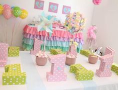 Cute as a Button 1st Birthday Party with So Many Darling Ideas via Kara's Party Ideas   KarasPartyIdeas.com