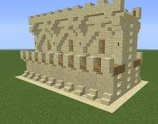 Desert Double Wall - GrabCraft - Your number one source for MineCraft buildings, blueprints, tips, ideas, floorplans!