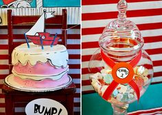 Dr. Seuss cake. Love the use of edible marker. #party