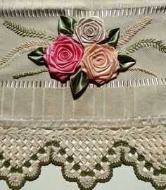 Image gallery – Page 695102523713718316 – Artofit Crochet Lace Edging, Crochet Borders, Crochet Doilies, Crochet Flowers, Silk Ribbon Embroidery, Embroidery Kits, Ribbon Crafts, Flower Crafts, Chandelier Wedding Decor