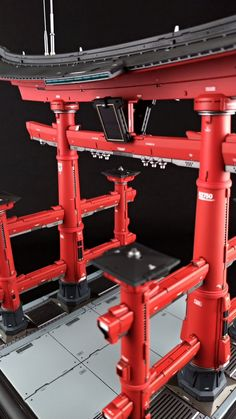 Japanese Gate, Scale Models, Cyberpunk, Wood Art, Environment, Design Inspiration, Indoor, Concept, Drones