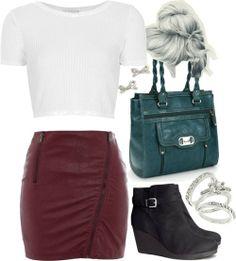 Topshop white shirt / Neon Rose bodycon skirt, $46 / H&M black boots, $58 / Rosetti purse / Kate Spade stud earrings / Wallis stackable ring