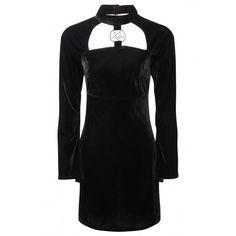 Ziva She's Evil velvet dress by Killstar