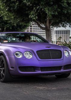 Cool Matte Purple Bentley Continental