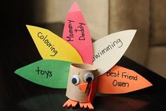 Thanksgiving thankful turkey craft by Meet the Dubiens