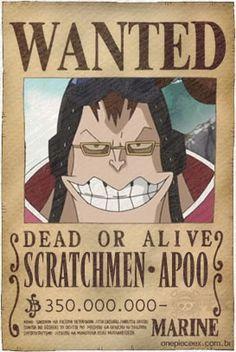 901de90ecc5 Apoo Wanted One Piece Anime
