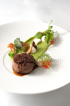 filet mignon | pie | 2x melon | parmesan | morel | herbs