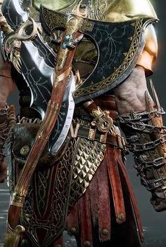 Machado Leviathan - Aprimorado por Brook e Sindri Axe Tattoo, Marvel Dc, Rwby Oc, Kratos God Of War, Fantasy Weapons, Knives And Swords, Game Art, Mythology, Vikings