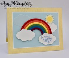I used the Stampin' Up! Sunshine & Rainbows stamp set bundle to create a fun card to share with you today. My card design was inspired by Tic Tac Toe Challenge TTTC033. I went right down…