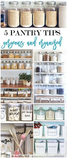 5 Tips for a Gorgeous and Organized Pantry is part of Apartment Organization Pantry - Implement these five tips for a gorgeous and organized pantry and start loving your food storage this year! Glean tips on how to create an organized pantry system Organisation Hacks, Kitchen Organization, Kitchen Storage, Food Storage, Storage Ideas, Diy Storage, Ikea Pantry Storage, Storage Design, Closet Organization