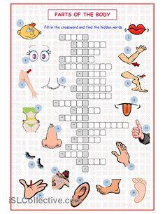 Parts of the Body Crossword worksheet - Free ESL printable worksheets ...