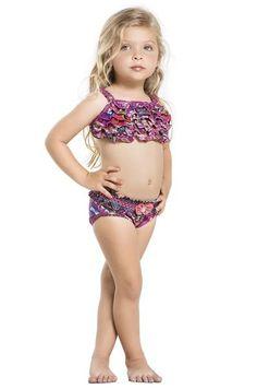 Luxury Kids Bikinis from Agua Bendita are something truly special. #kidsbikini #rufflesbikini #littlegirlswimwear
