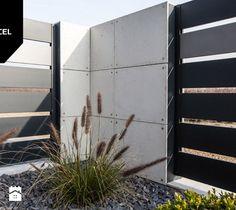 Shades of Grey. Nowoczesne ogrodzenie Xcel: Horizon Massive + Rockina Cubero - Ogród, styl nowoczesny - zdjęcie od XCEL Ogrodzenia