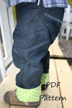 Cloth Diaper Jeans pattern Beanstalk Britches os jean pattern for cloth by StitchUponaTime.com