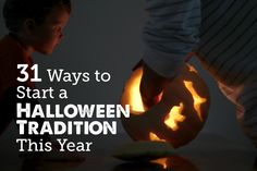 Lots of fun Halloween traditions to start with the family this year - #13 and #28 are my favorites!