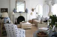BLUE & WHITE FOREVER   Mark D. Sikes: Chic People, Glamorous Places, Stylish Things