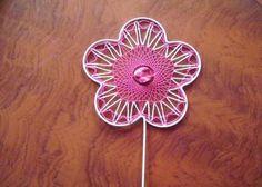 Deko-Objekte - Blumenstecker mit Klöppelarbeit - ein Designerstück von Kreative-Kloeppelideen bei DaWanda