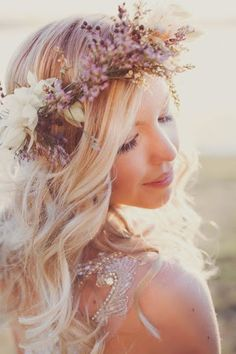 flower child bohemian goddess. LOVE this floral crown!!! A favourite for me