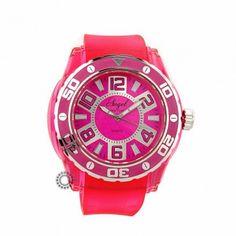 AP.1252.P - Γυναικείο ρολόι quartz ANGEL από ροζ πλαστικό και ροζ καουτσούκ. Εγγύηση 2 ετών της επίσημης αντιπροσωπείας. Αποστολή εντός 2-3 ημερών #angel #φουξια #σιλικονη #γυναικειο #ρολοι Chronograph, Watches, Accessories, Clocks, Clock, Ornament