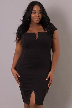 Plus Size She Drives Me Crazy Dress | Black