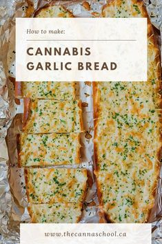 Weed garlic bread is one of my all-time favourite cannabis edible recipes. This recipe is a great place to start if you're new to making edibles at home. Weed Recipes, Marijuana Recipes, Cooking Recipes, Recipies, Cooking With Marijuana, Weed Butter, Cannabis Edibles, Garlic Bread, Food And Drink
