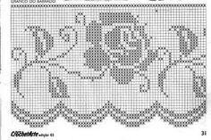 filet crochet lace border