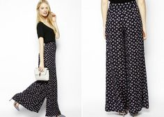 These wide leg pants look SO comfortable.