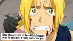 FMAB|| La seule et unique fois ou on vois Ed pleurer... Et bordel c étais marquant