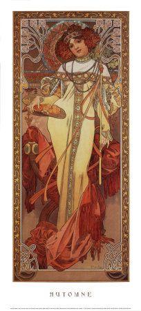 Alphonse Mucha-Autunno, 1900