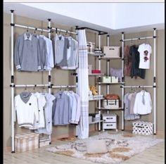 Promotional Simple Wardrobe Creative Diy Large Wardrobe Closet Cloth  Wardrobe Cloakroom Frame Hanging Wardrobe | Interior Ideas | Pinterest |  Hanging ...