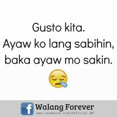 66 Trendy funny jokes tagalog 2018 What's April exactly why is it a laugh, the length of time … Crush Quotes Tagalog, Tagalog Quotes Hugot Funny, Memes Tagalog, Hugot Quotes, Cute Love Quotes, Funny Quotes For Kids, Love Quotes For Boyfriend, Funny Quotes About Life, Fun Quotes