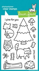 lawn fawn clear stamp in critters in the forest