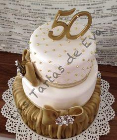 Tarta 50 Aniversario / Tarta Bodas de Oro / Golden Cake