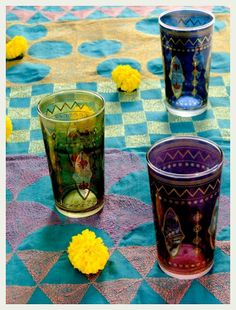 just got these Moroccan tea glasses from Good Earth