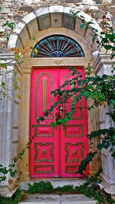 Kos, Greece.............................. Gorgeous pink door. A happy home I bet!