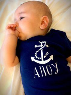 Nautical shirt nautical onesie by yellowhammertots on Etsy