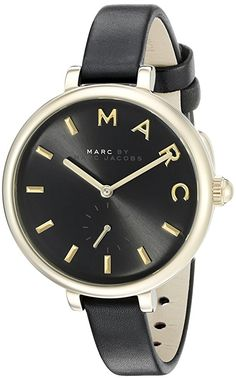#Marc #Jacobs #Women's #Sally Black Leather #Watch - MJ1416 #MarcJacobs