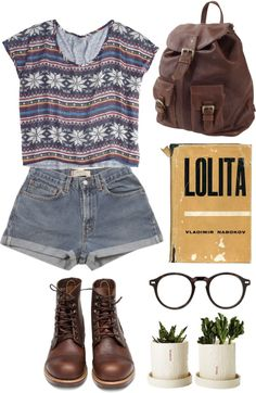 """sometimes i read in the woods"" by anna-mckinley ❤ liked on Polyvore"