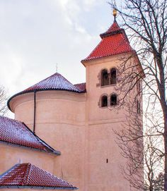 Eleven centuries old church of St.Peter & Paul in Budeč (built 895 and 905), the oldest standing building in Czechia. Budeč was the place, where St. Wenceslas (Wenceslaus I) lived in his youth learning the Psalter. #church #romanesque #Czechia