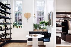 "coveting a column dining table like in the ""les essentiels"" store"
