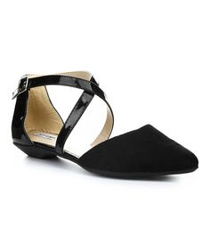 Love this Black Belita Crisscross Flat on #zulily! #zulilyfinds