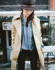 NOTICED: THE LAYERED JEAN JACKET Posted on February 26, 2014 by Madewell Loving this utilitarian and unexpected layer. Jacket + Trench, Jacket + Leather Moto, etc.